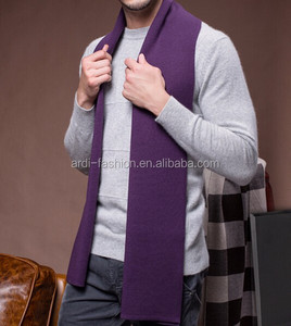 different solid colors merino wool mens knitted scarf