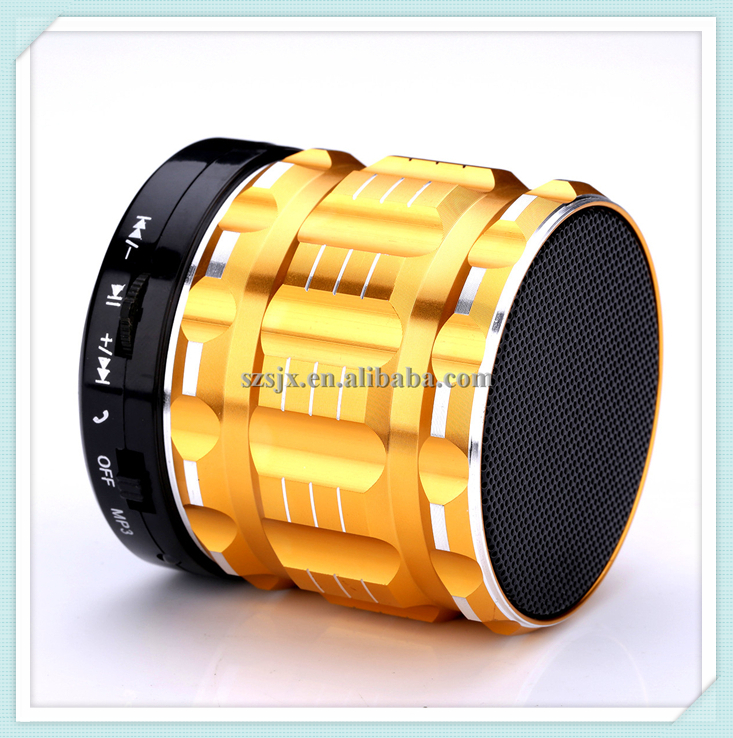 Multi-fonction Hot Sale Mini Wireless Bluetooth Speaker Colorful Metal Portable Subwoofer