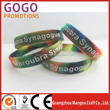 Custom factory made cheap free silicone wristband, Custom made silicone bracelet / printing logo flexible silicone wristband