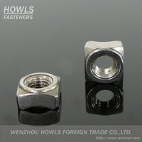 High quality DIN928 welded square nut carbon steel plain auto fasteners square nut weld type