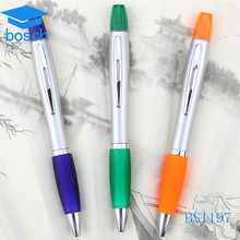 Hot sale multi color ball pen with highlighter promotional