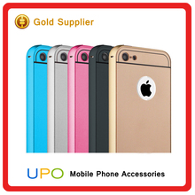 [UPO] Wholesale 2 in 1 Aluminum Bumper Acrylic Hard PC Shockproof Back Cover Case for iphone 4 4s