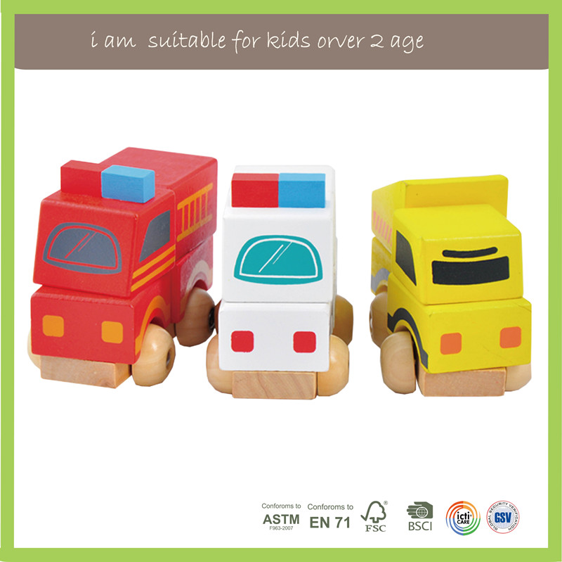 New Multifunction Children Play Wooden Model Cars