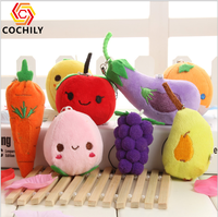 HI CE certificate lovely fruit vegetable plush toy soft toy inside 100 pp cotton