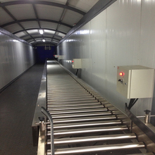 SUS304 automatic roller conveyor system for packaging line