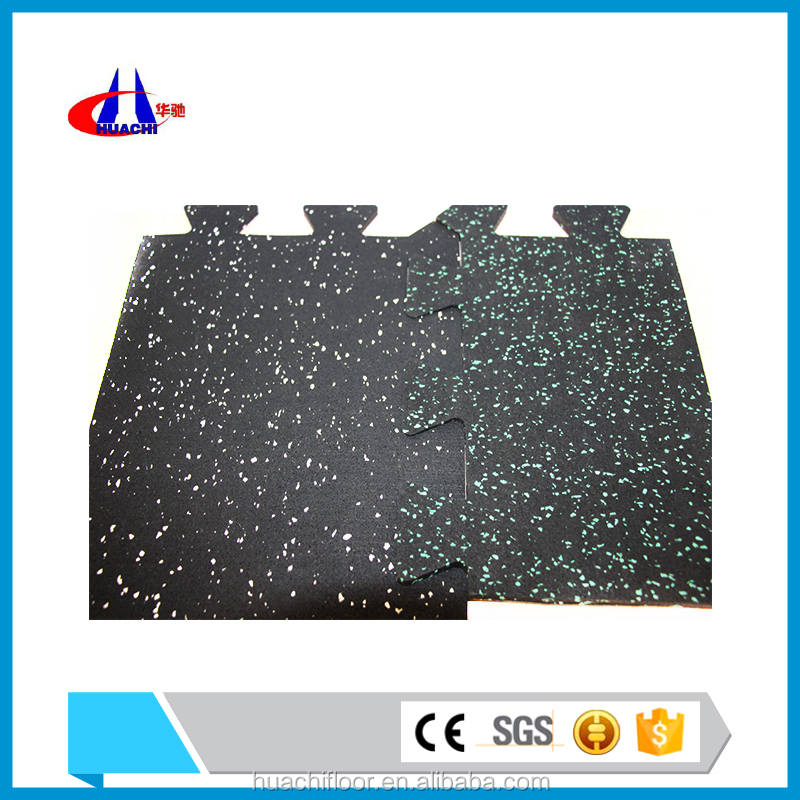 Mould proof 1000mm*1000mm interlock rubber flooring in china