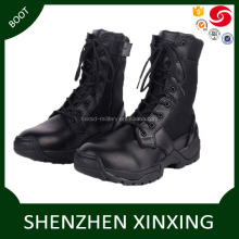 China factory supply genuine leather arrmy style black combat boots for men,women black leather army combat boots chea for sale