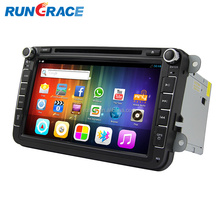 RUNGRACE android capacitive touch screen vw golf 4 car multimedia dvd player