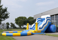 Cheap low price adult size inflatable water slide for sale