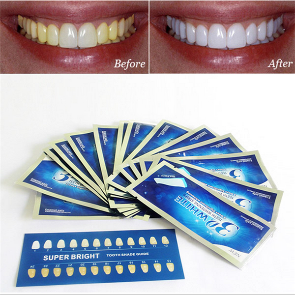 Advanced 3D White Strips Professional Fast Effects Teeth Whitening Strips