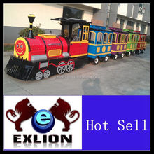 Children's favorite game trackless train mall exciting and fashion with low price