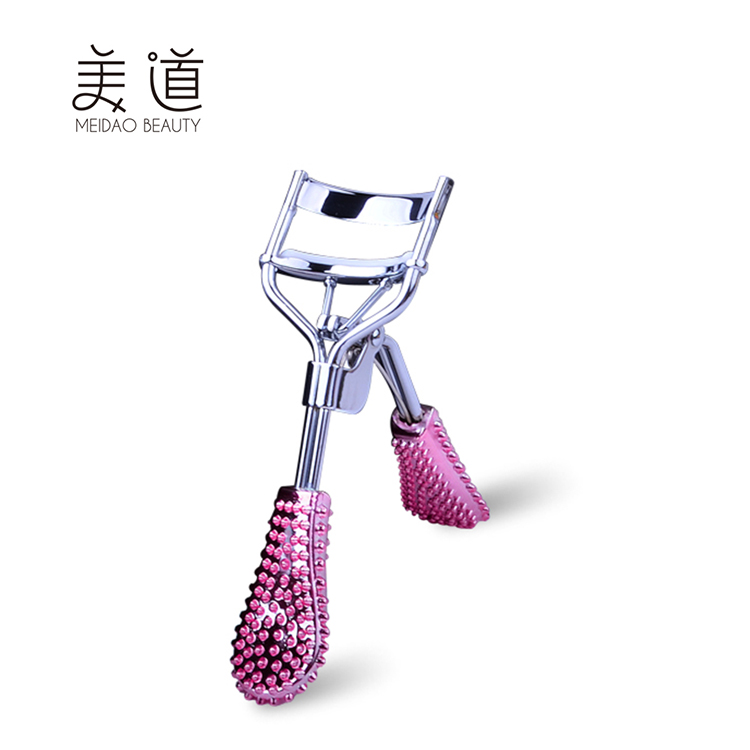 Professional Pink Custom Plastic Diamond Eyelash Curler