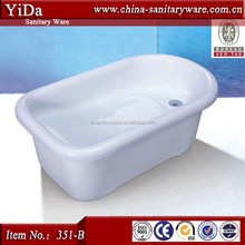 foshan manufacturer BB tub, acrylic bathtub for baby, small size bathroom bathtub