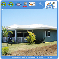 Luxury villa prefabricated 3 bedroom prefab modular 40ft mobile home
