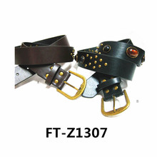 2014 new design fashion lady's studs belt -fake designer belts with pu leather FT-Z1307