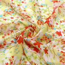 75D Polyester floral digital print Chiffon Silk necktie Fabrics for lady dress