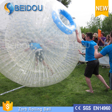 Customized Newest Hot Sale 1.0mm PVC and TPU Football Inflatable Body Zorb Ball for Rental/Sports Event