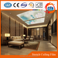 Shanghai Foxygen supplying fashionable ceiling easy-install function waterproof pvc sky ceiling film