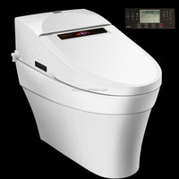White Elongated hot and warm toilet electronic bidet