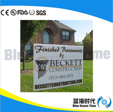 Plastic pp corrugated sign/political campaign corflute sign/yard sign