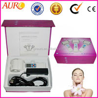 L: (Au-017) Personal care Ultrasonic massage hot and cool facial massage hammer for wrinkle removal
