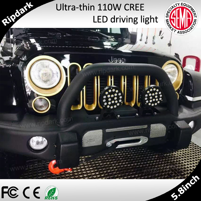High power head light 5.8'' LED driving light for Jeep, 4x4, 4WD