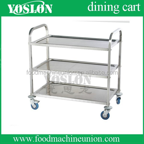 YOSLON stainless steel cart with wheels