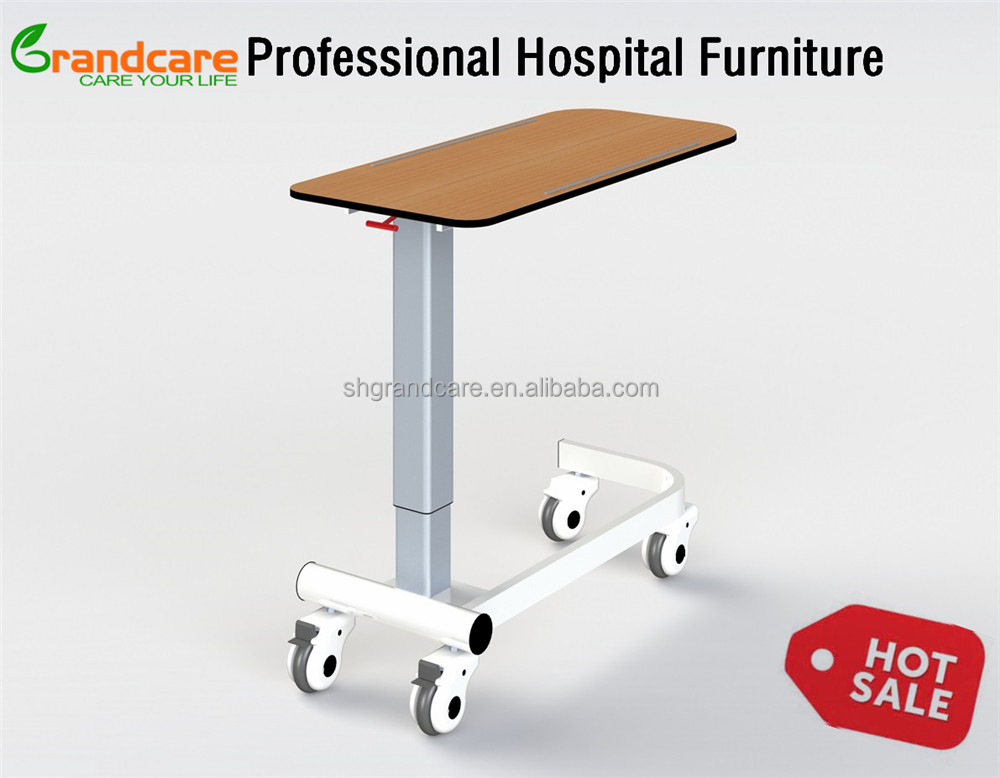 G-FW001 Chemical Resistant Compact Resin Laminate Hospital Patient Over Bed Table