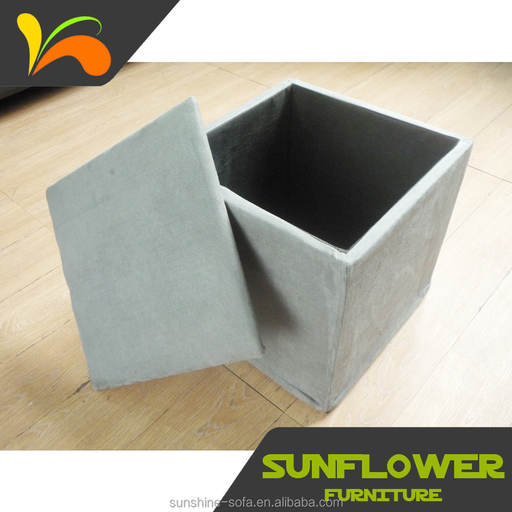 Hot sell furniture nonwoven storage ottoman for hotel