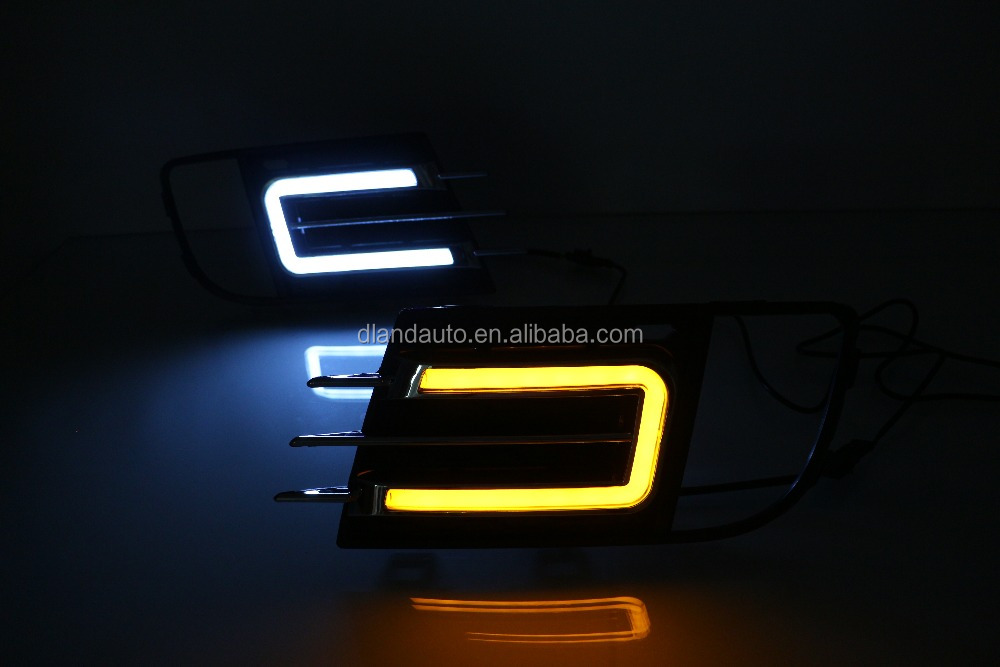 DLAND 2013 TIGUAN SPECIAL LED DAYTIME RUNNING LIGHT FOG LAMP DRL V5, TYPE <strong>U</strong>, WITH YELLOW TURN SIGNAL FOR VW TIGUAN