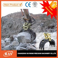 hydraulic excavator rotating grapple for excavator/tractor