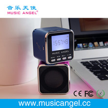 Music Angel JH-MD08D LCD screen micro SD/TF card FM mini line array speaker innovative products for import