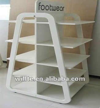 MDF shoe display stand/ MDF shoe rack