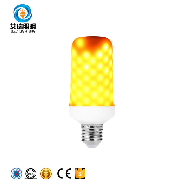 2018 New product E27 E26 B22 SMD2835LED 99Pcs led chip 3W 5W 7W Burning Light Fire led flame effect bulb