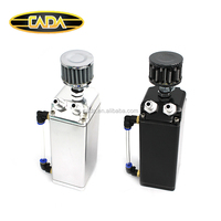 Aluminum Universal Racing Oil Catch Tank Can With Air Filter Square