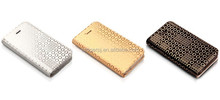 Luxury Fashion Flip Real Genuine Leather Case Cover For iphone 5 5S