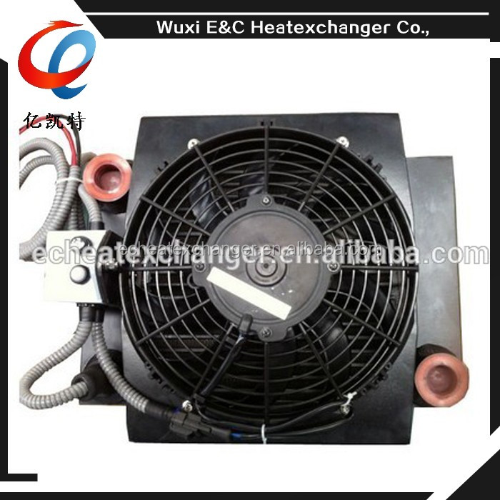 Aluminum hydraulic oil cooler for water pumps