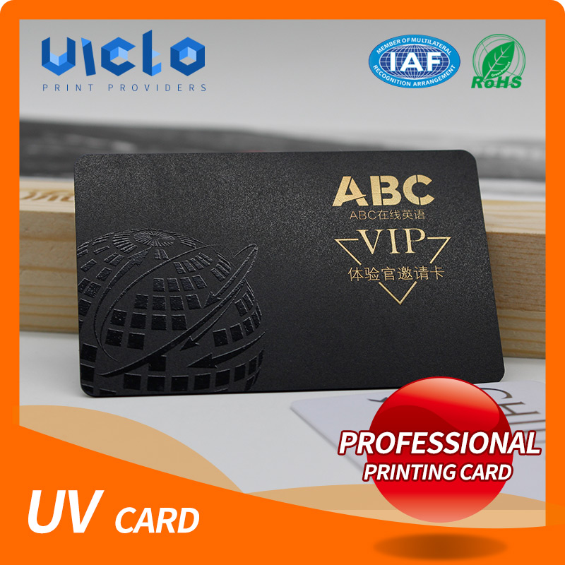 Brand new PVC spot UV member card with CE&ISO