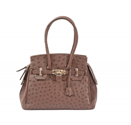 GALIA BAG 2066 Ostrich leather handbag