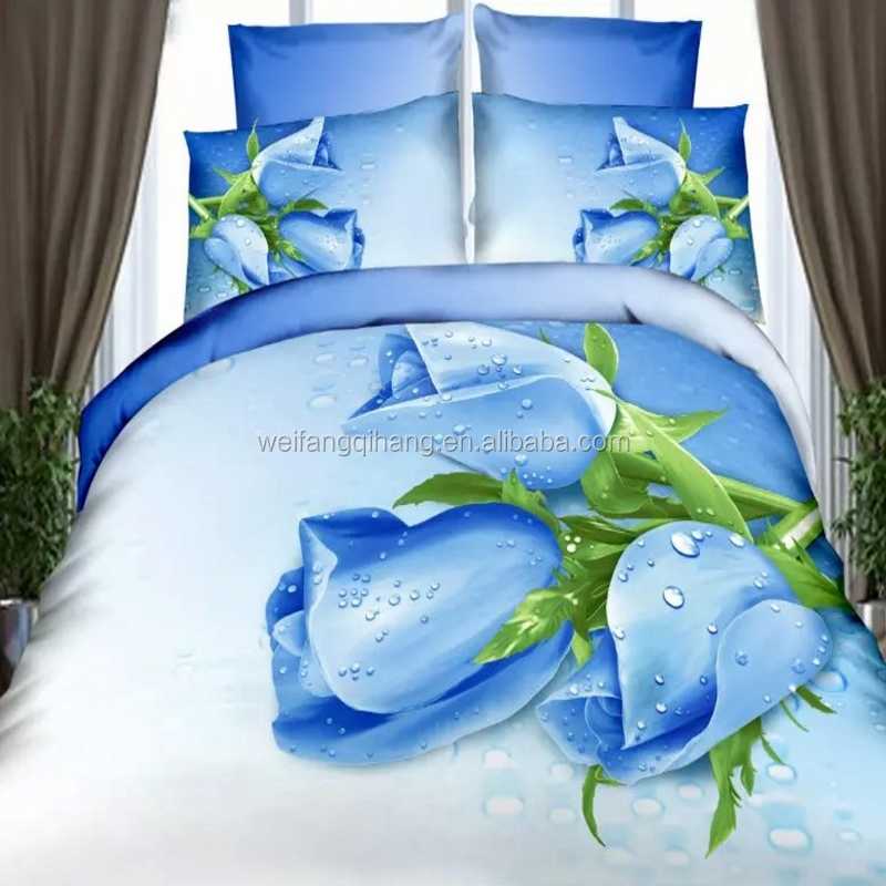 custom 3D digital printed bed sheet, bedsheet