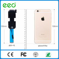 EEO Promotional pen style mini monopod , Cable Take Wired mini Selfie Stick