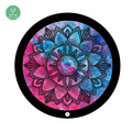 Customized printing eco friendly circle round kids coloring yoga mat