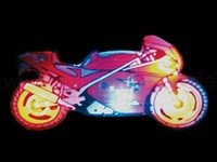 LED blinking pin motorcycle