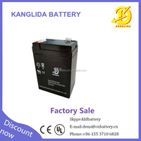 small storage rechargeable 6v 4ah sealed lead acid battery made in China Kanglida brand