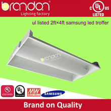 High quality CE, UL,DLC approved led 2 tube 2x4 troffer