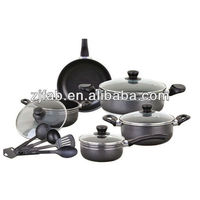 New and Powder Painting Outside 13PCS Aluminium Non-stick Cookware with Nylon Tools