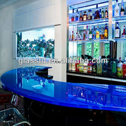 Contemporary glass commercial cafe bar furniture