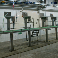 beef carcass trimming platform for beef abattoir
