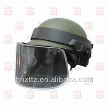 Police bulletproof anti riot helmet with visor