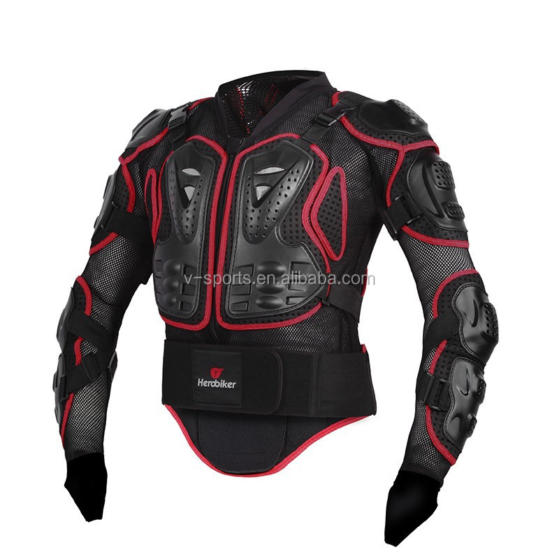 HEROBIKER Professional Motocross Off-Road Protector Motorcycle Full Body Armor Jacket Protective Gear Clothing S/M/<strong>L</strong>/XL/XXL/XXXL